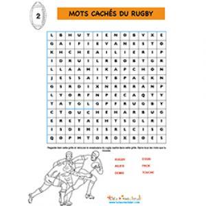 Grille de mots cachés du rugby N2