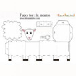 Mouton à imprimer pour faire un paper toy