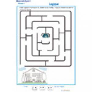 labyrinthe 2 MS : le paon et sa maison