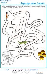 Exercice 3 : repérage dans l'espace labyrinthe 3