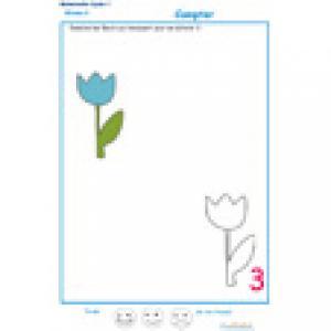 exercice 4 : Ajouter les fleurs qui manquent