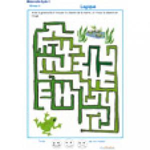 labyrinthe 6 MS : La grenouille et la marre