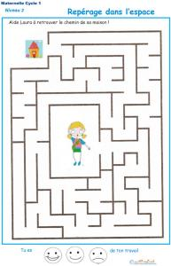 Exercice 7 : repérage dans l'espace labyrinthe 7