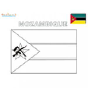 Coloriage du drapeau du Mozambique