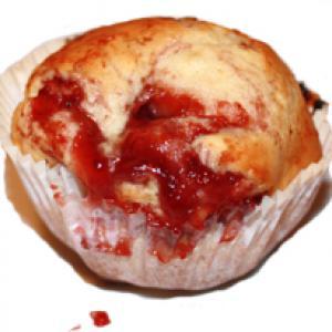 Muffin à la confiture de framboise