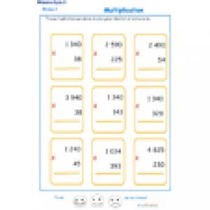 Multiplications niveau 3 cycle 3