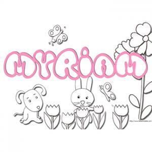 coloriage prénom Myriam