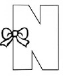 Colorie le N de l'alphabet comme NOEUD