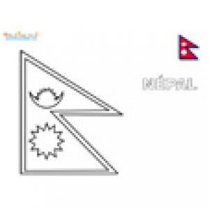 Coloriage du drapeau du Népal