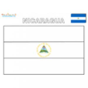 Coloriage du drapeau du Nicaragua