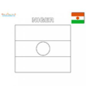 Coloriage du drapeau du Niger