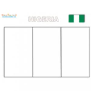 Coloriage du drapeau du Nigeria