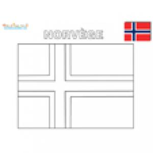 Coloriage du drapeau de la Norvège