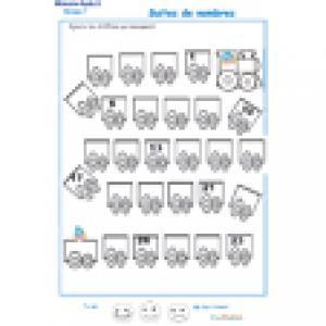 exercice 5 de numération de 1 à 23