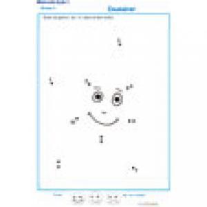 dessin à points de 1 à 10 exercice 2
