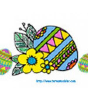 Image Paques a imprimer : image oeuf de Paques 12
