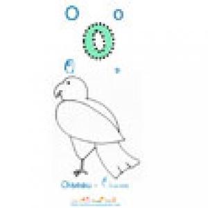 Apprendre et lire le O comme oiseau