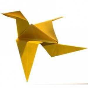 Oiseau en origami
