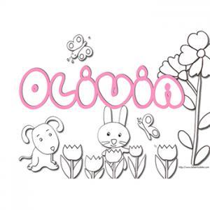 coloriage prénom Olivia