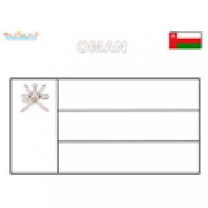 Coloriage du drapeau d'Oman