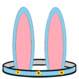 Oreilles de lapin à colorier