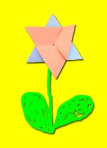 carte origami fleur