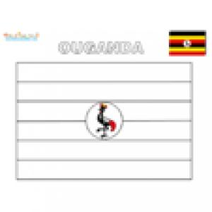Coloriage du drapeau de l'Ouganda