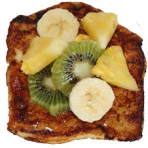 Pain perdu fruits tropicaux