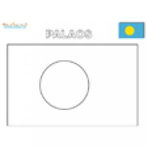Coloriage du drapeau des Palaos