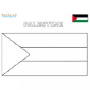 Coloriage du drapeau de la Palestine