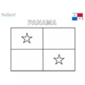 Coloriage du drapeau du Panama