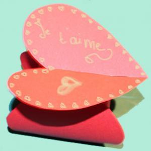 Pochette coeur saint Valentin