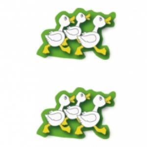 Canard, décorations du petit panier