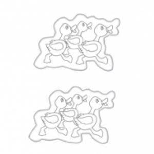 décorations du petit panier canard à colorier