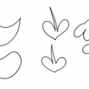 modèles de poussins et fleurs pour le panier de Pâques
