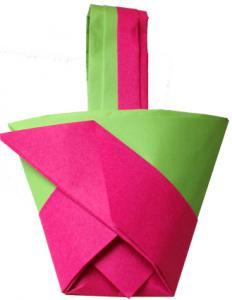 Réalisation du panier origami aux motifs géométriques