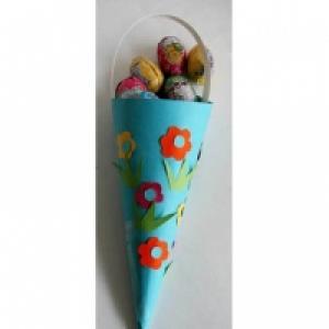Cornet à oeufs de Pâques bleu