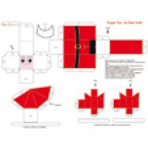 Paper toy Père Noël à imprimer