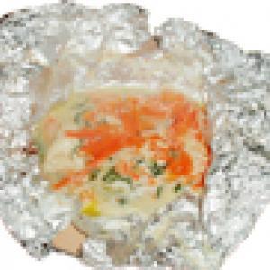 Papillotte de saumon aux petits légumes