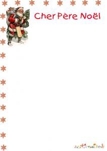 Papier à lettre motif Père Noël