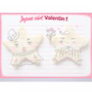 Papier à lettres biscuits saint Valentin