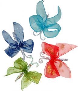 papillons de Noël en ruban