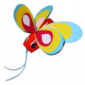 Papillon en pot de plastique