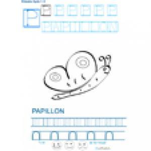 Imprimer la fiche graphisme sur P de PAPILLON