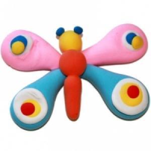 Papillon à gros yeux en pâte à modeler