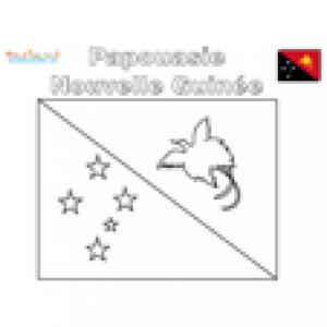 Coloriage du drapeau de la Papouasie