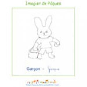 Imprimer le garçon de l'imagier de Pâques