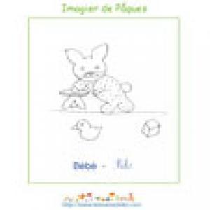 Imprimer le bébé de l'imagier de Pâques