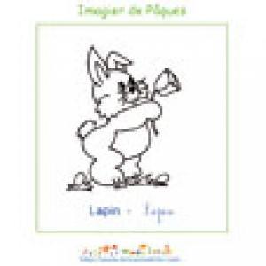 Imprimer le lapin de l'imagier de Pâques