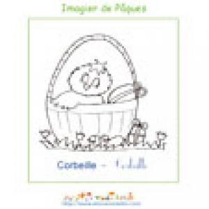 Imprimer la corbeille de l'imagier de Pâques